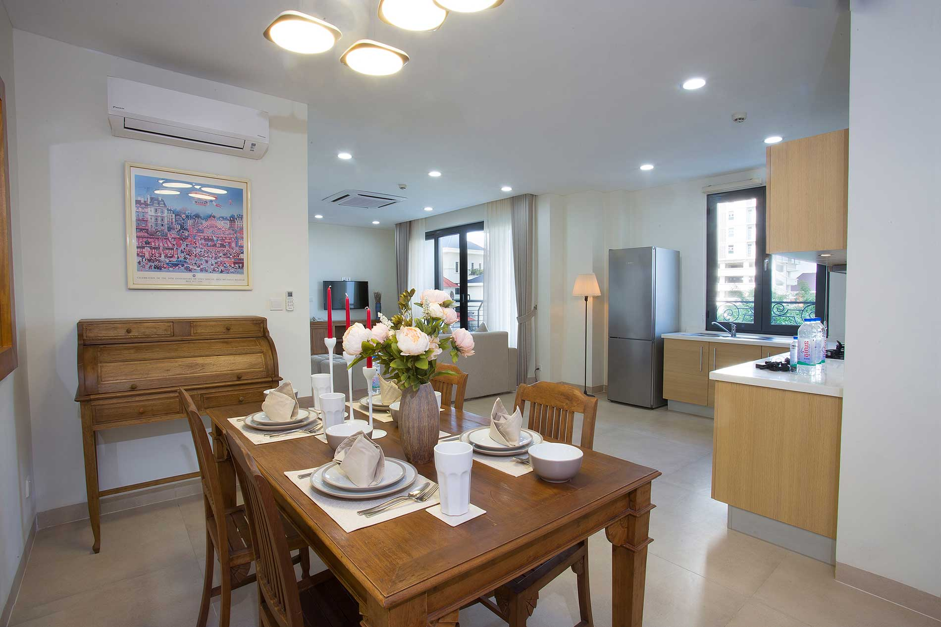 Modern fully furnished 1 bedroom apartment with Mekong view
