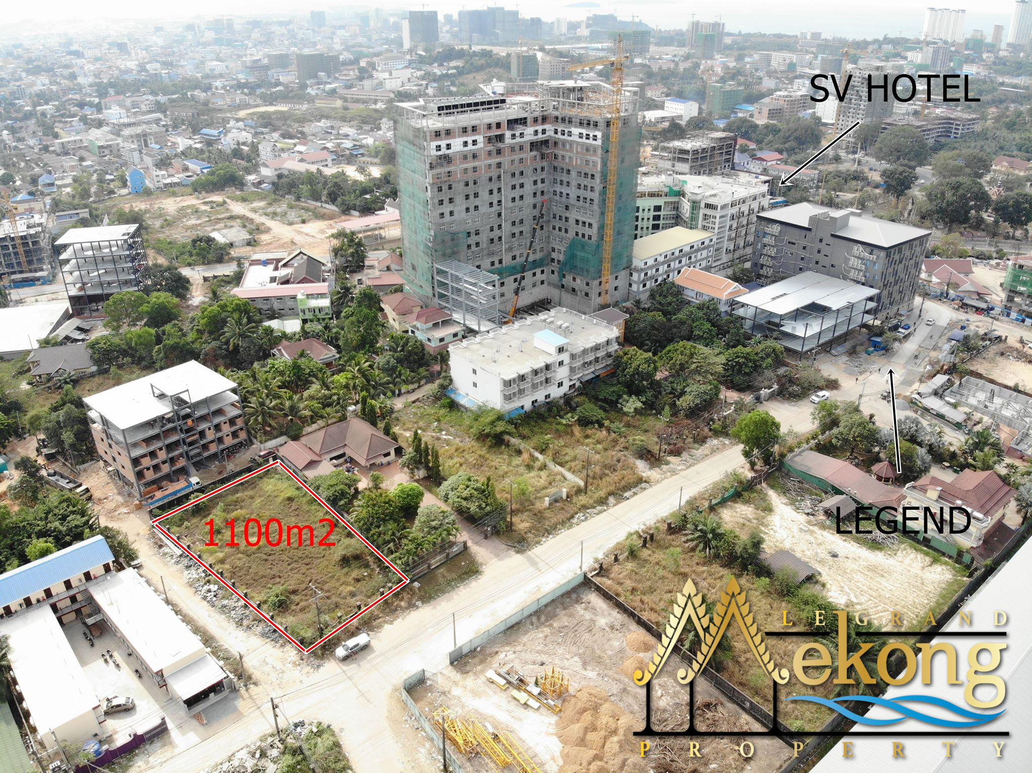 1100m2 Land for rent in Sihanoukville | LGM354