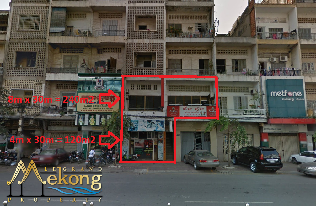 Commercial Space For Rent on Monivong Boulevard | LGM241