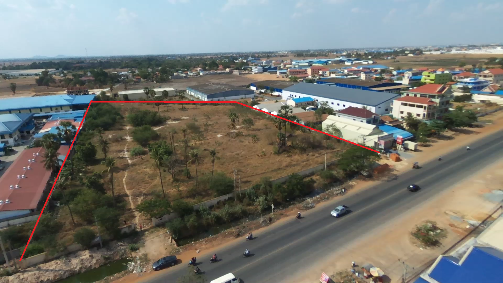 1.8 hectares along National road 4